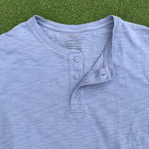 VINCE Henley Heathered s/s T- shirt Lg